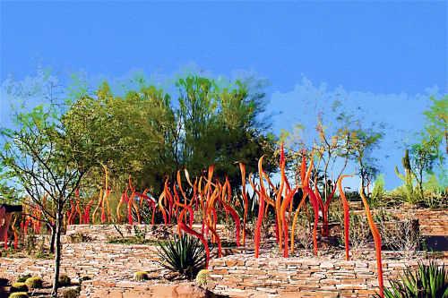 Glass art by Dale Chihuly taken at Desert Botanical Garden, Phoenix AZ
