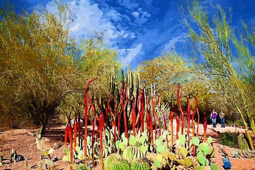 Scorpion Tails by Dale Chihuly: Desert Botanical Garden January 19, 2009 Redigitized by Judy Vorfeld