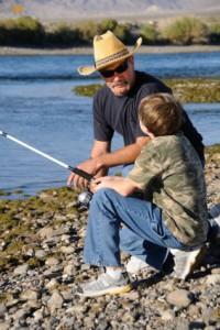 grandpaboyfishing