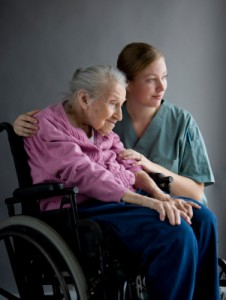 Caregiver with dependent senior patient
