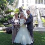 Judy Vorfeld with granddaughter Dana Kukuruda and her soon-to-be husband, Derek Engstrom