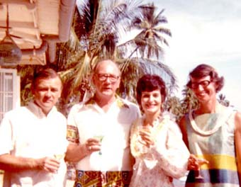 Bob, Jack, Judy, & Wilma Vorfeld at Lahaina Hawaii July 3, 1971