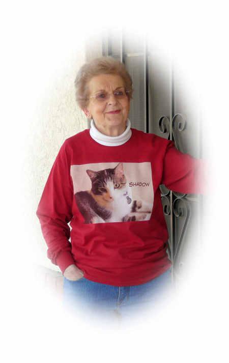 Judy Vorfeld wears PawFun.com T-Shirt