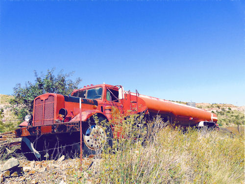 Jerome, Arizona: Old truck near Ghost Town in the hills above Jerome