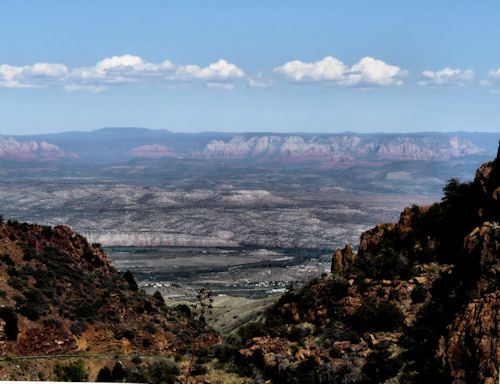 Jerome, Arizona from the hills to the south